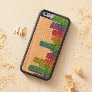 Denver skyline carved cherry iPhone 6 bumper case