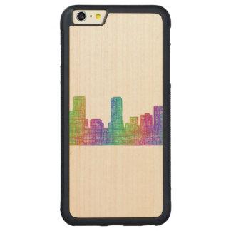 Denver skyline carved maple iPhone 6 plus bumper case