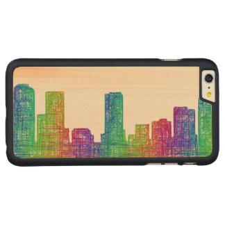 Denver skyline carved maple iPhone 6 plus case
