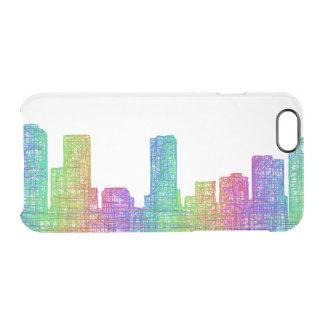Denver skyline clear iPhone 6/6S case