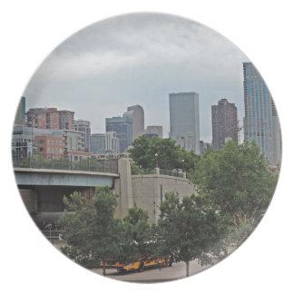 Denver Skyline Dinner Plate