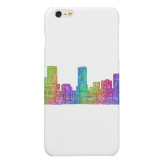Denver skyline glossy iPhone 6 plus case