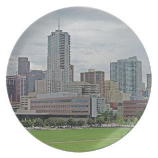 Denver Skyline Melamine Plate
