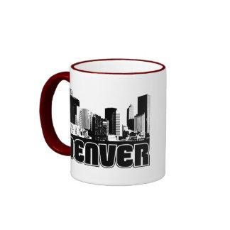Denver Skyline Ringer Coffee Mug