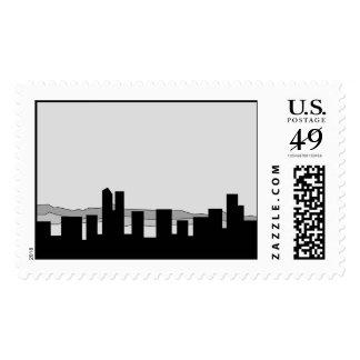 Denver Skyline Postage Stamps