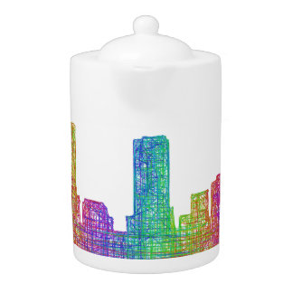 Denver skyline teapot
