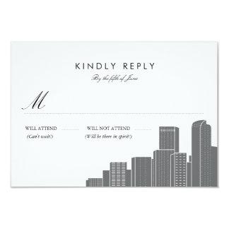 Denver Skyline Wedding RSVP Card