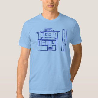 Denver Square Blueprint - Elevation T-shirt