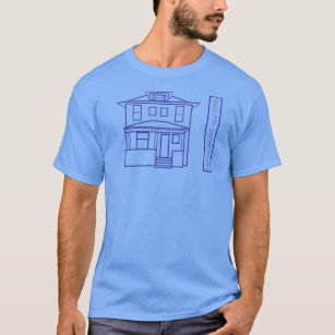 House blueprints t shirts shirt designs zazzle denver square blueprint elevation t shirt malvernweather Gallery