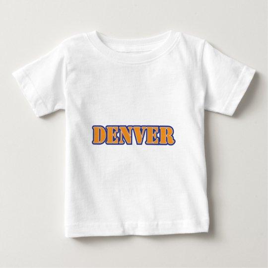 Denver Stencil Orange Blue Baby T-Shirt