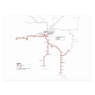 Denver subway system postcard