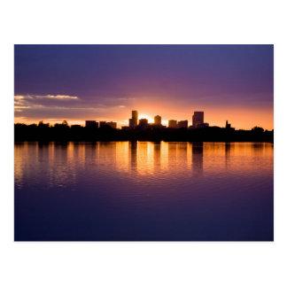 Denver Sunrise Skyline Post Card
