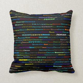 Denver Text Design I Throw Pillow
