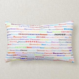 Denver Text Design II Lumbar Pillow