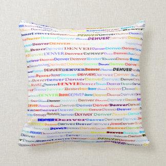 Denver Text Design II Throw Pillow