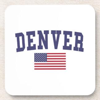 Denver US Flag Drink Coaster