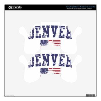 Denver US Flag PS3 Controller Skins