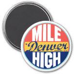 Denver Vintage Label 3 Inch Round Magnet