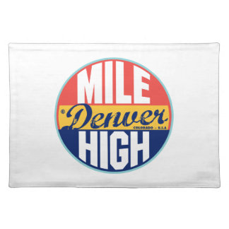 Denver Vintage Label Cloth Placemat