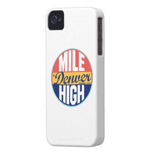 Denver Vintage Label iPhone 4 Cover