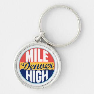 Denver Vintage Label Keychain