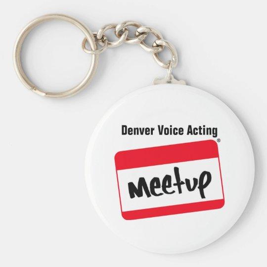 Denver Voice Acting Meetup Keychain