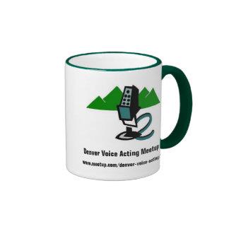 "Denver Voice Acting Meetup ""Mic & Mtn"" logo mug"