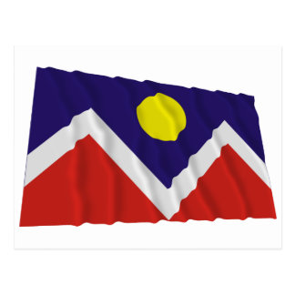 Denver Waving Flag Postcard