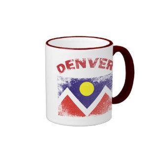 DENVER WITH CITY FLAG RINGER COFFEE MUG