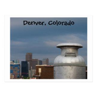 Denver's Giant Milk Can Postcard