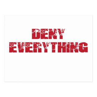 Deny Everything Postcard