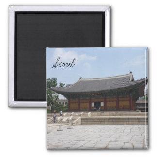 deoksugung Seul Imán Cuadrado