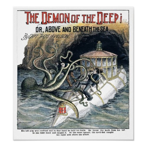 Deomn Of The Deep - 1902 Vintage Print