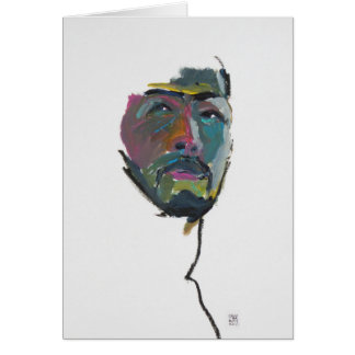 Deon Portrait Clay greeting card