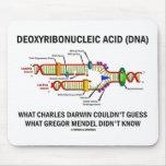 Deoxyribonucelic Acid (DNA) Mendel Darwin Mousepad