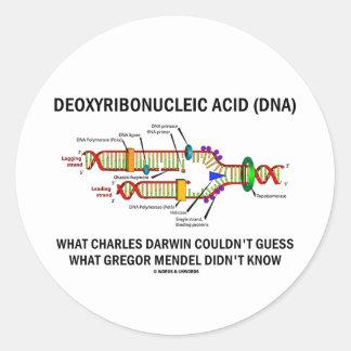 Deoxyribonucelic (DNA) Mendel ácido Darwin Pegatina Redonda