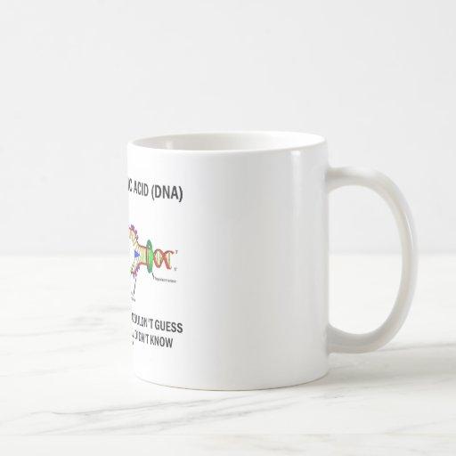 Deoxyribonucelic (DNA) Mendel ácido Darwin Taza De Café