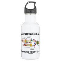 Deoxyribonucleic Acid Fingerprint Of 21st Century 18oz Water Bottle