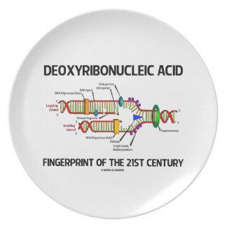 Deoxyribonucleic Acid Fingerprint Of 21st Century Dinner Plate