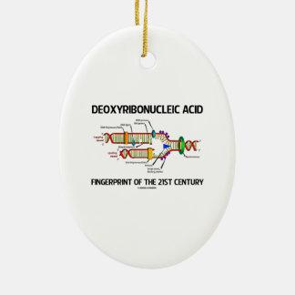 Deoxyribonucleic Acid Fingerprint Of 21st Century Ornament