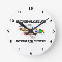 Deoxyribonucleic Acid Fingerprint Of 21st Century Round Clock
