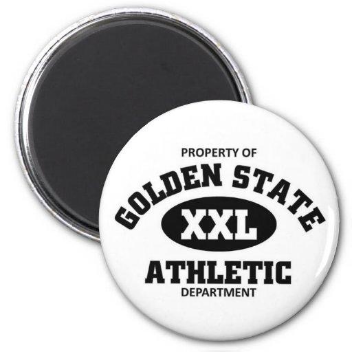 Departamento atlético del Golden State Imán Redondo 5 Cm