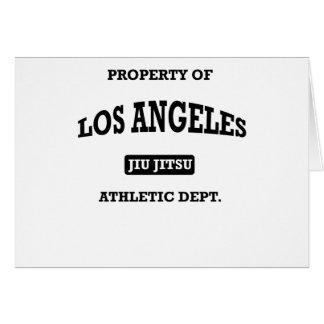 Departamento atlético Jiu Jitsu de Los Ángeles Tarjeta De Felicitación