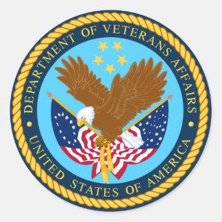 Departamento de asuntos de veteranos etiquetas redondas