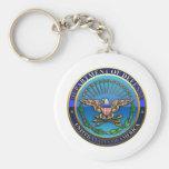Departamento de Defensa de los E.E.U.U.  (DoD) Llavero Personalizado