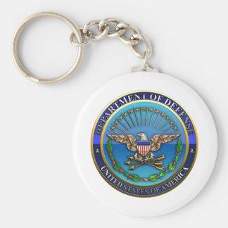 Departamento de Defensa de los E.E.U.U.  (DoD) Llavero Redondo Tipo Pin