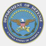 Departamento de Defensa Pegatina Redonda