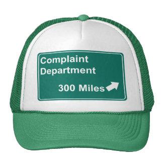 Departamento de denuncia 300 millas gorra