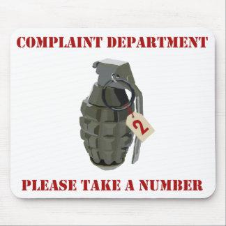 Departamento de denuncia tapetes de ratón