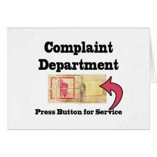 Departamento de denuncias tarjeta de felicitación